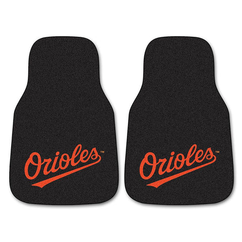 Baltimore Orioles MLB Car Floor Mats (2 Front)