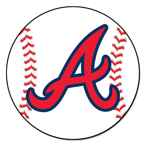 Atlanta Braves MLB Baseball Round Floor Mat (29)