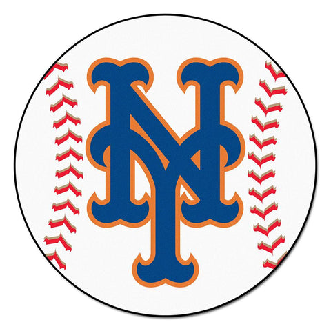 New York Mets MLB Baseball Round Floor Mat (29)