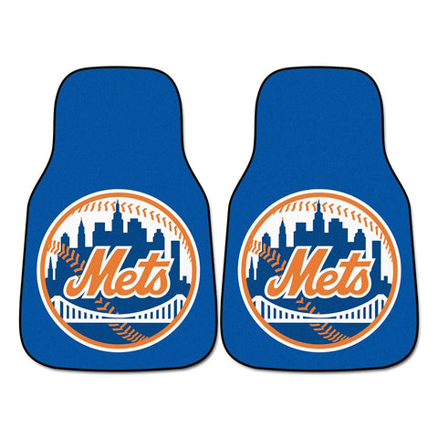 New York Mets MLB Car Floor Mats (2 Front)