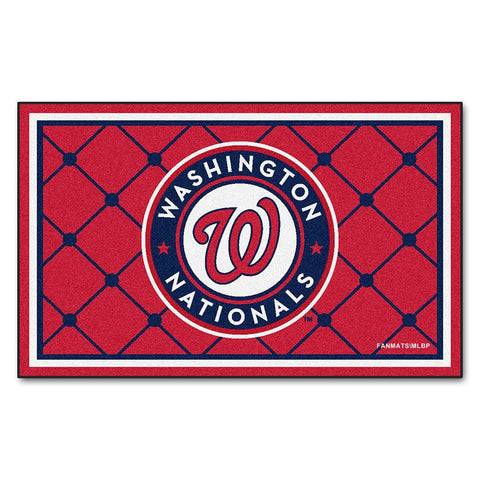 Washington Nationals MLB Floor Rug (4'x6')