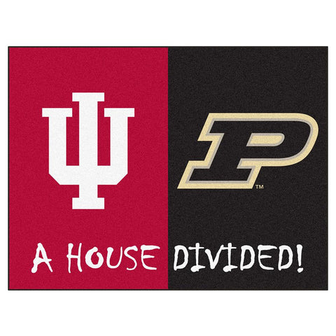 Indiana Hoosiers - Purdue Boilermakers House Divided NCAA All-Star Floor Mat (34x45)