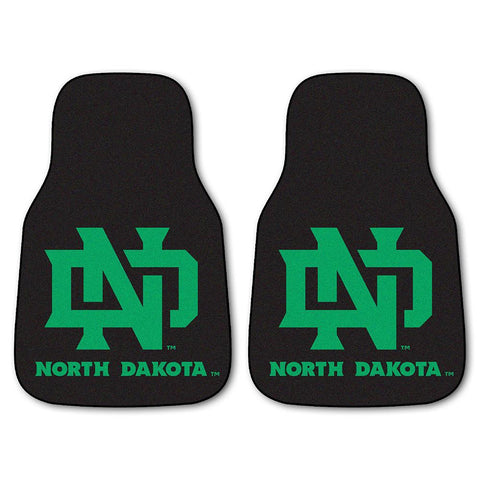North Dakota Fighting Sioux NCAA 2-Piece Printed Carpet Car Mats (18x27)