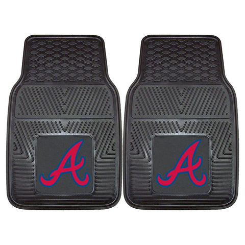 Atlanta Braves MLB Heavy Duty 2-Piece Vinyl Car Mats (18x27)