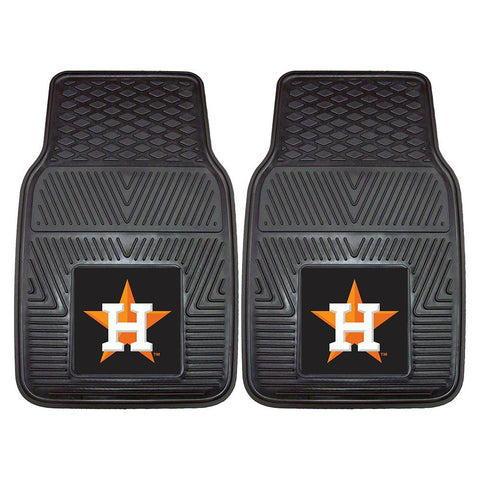 Houston Astros MLB Heavy Duty 2-Piece Vinyl Car Mats (18x27)