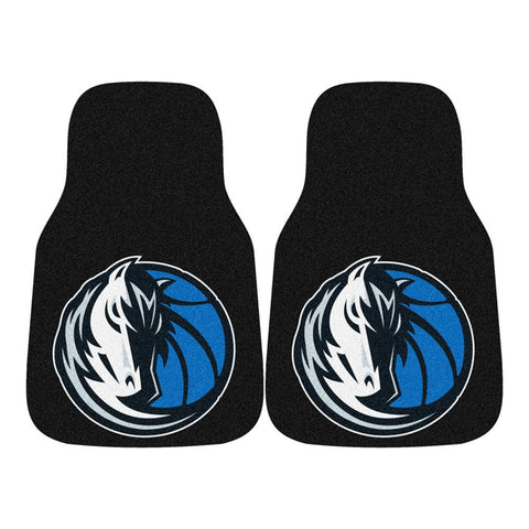 Dallas Mavericks NBA 2-Piece Printed Carpet Car Mats (18x27)