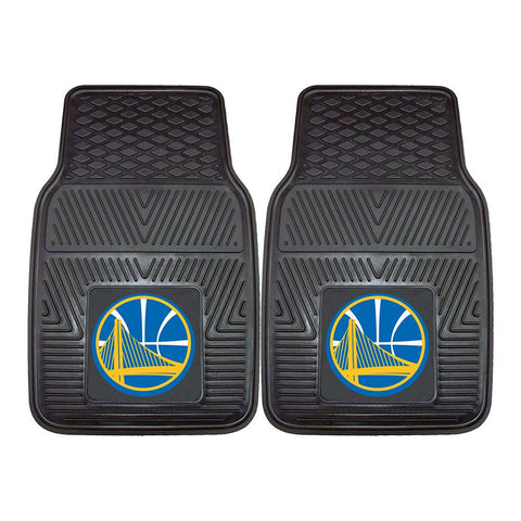 Golden State Warriors NBA Heavy Duty 2-Piece Vinyl Car Mats (18x27)