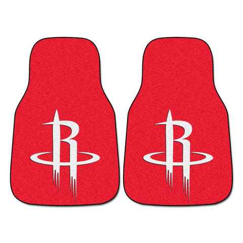 Houston Rockets NBA 2-Piece Printed Carpet Car Mats (18x27)