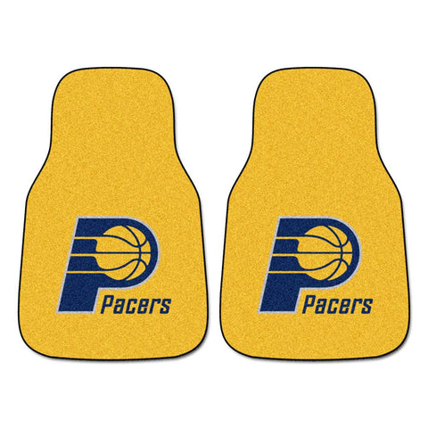 Indiana Pacers NBA 2-Piece Printed Carpet Car Mats (18x27)