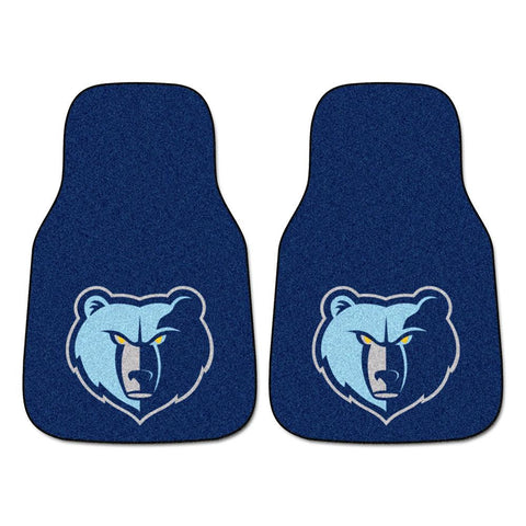 Memphis Grizzlies NBA 2-Piece Printed Carpet Car Mats (18x27)