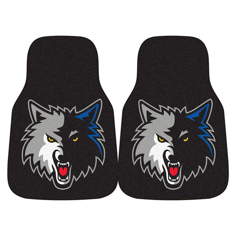 Minnesota Timberwolves NBA 2-Piece Printed Carpet Car Mats (18x27)