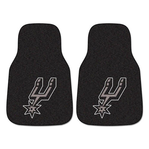 San Antonio Spurs NBA 2-Piece Printed Carpet Car Mats (18x27)