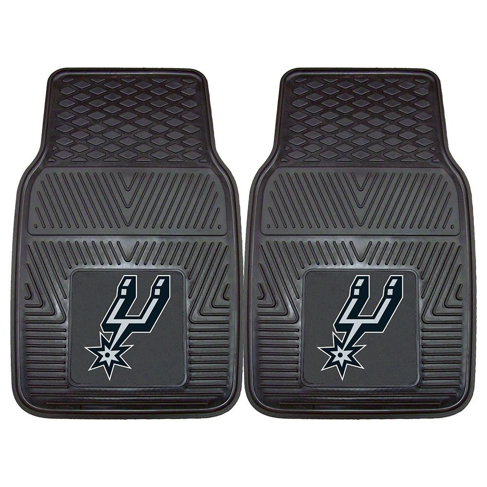 San Antonio Spurs NBA Heavy Duty 2-Piece Vinyl Car Mats (18x27) - 2