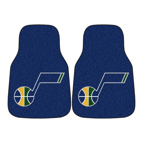 Utah Jazz NBA 2-Piece Printed Carpet Car Mats (18x27)