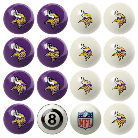 Minnesota Vikings NFL 8-Ball Billiard Set