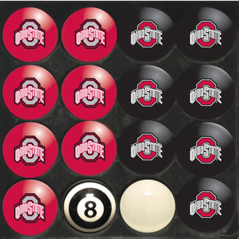 Ohio State Buckeyes NCAA 8-Ball Billiard Set