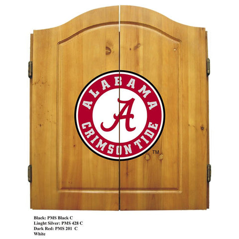 Alabama Crimson Tide NCAA Dart Board w-Cabinet
