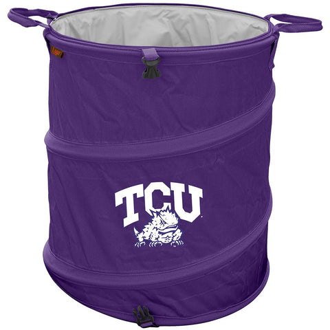 Texas Christian Horned Frogs NCAA Collapsible Trash Can