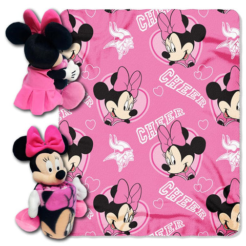 Minnesota Vikings NFL Minnie Mouse with Throw Combo