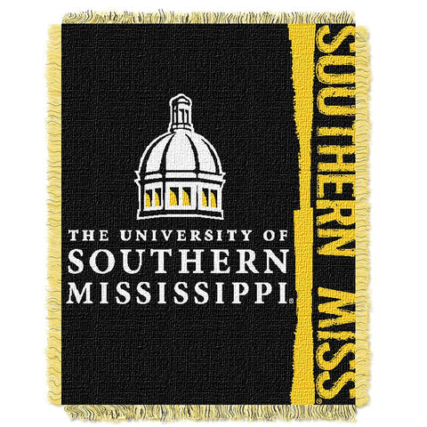 Southern Mississippi Eagles NCAA Triple Woven Jacquard Throw (Double Play Series) (48x60)