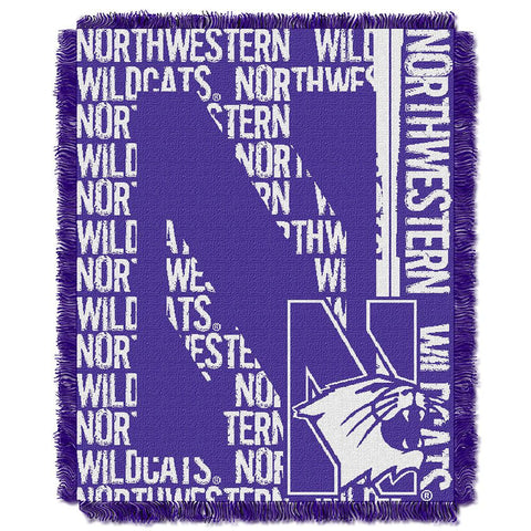 Northwestern State Demons NCAA Triple Woven Jacquard Throw (Double Play Series) (48x60)