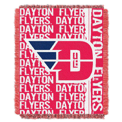 Dayton Flyers NCAA Triple Woven Jacquard Throw (Double Play Series) (48x60)