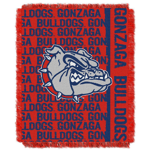 Gonzaga Bulldogs NCAA Triple Woven Jacquard Throw (Double Play Series) (48x60)
