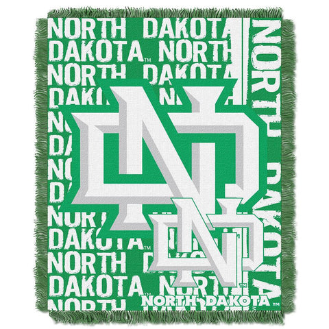 North Dakota Fighting Sioux NCAA Triple Woven Jacquard Throw (Double Play Series) (48x60)