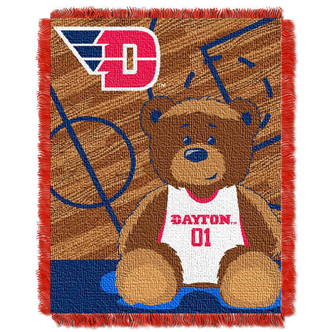 Dayton Flyers NCAA Triple Woven Jacquard Throw (Fullback Baby Series) (36x48)