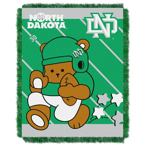 North Dakota Fighting Sioux NCAA Triple Woven Jacquard Throw (Fullback Baby Series) (36x48)