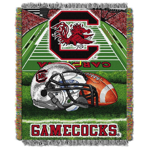 South Carolina Fighting Gamecocks NCAA Woven Tapestry Throw (Home Field Advantage) (48x60)