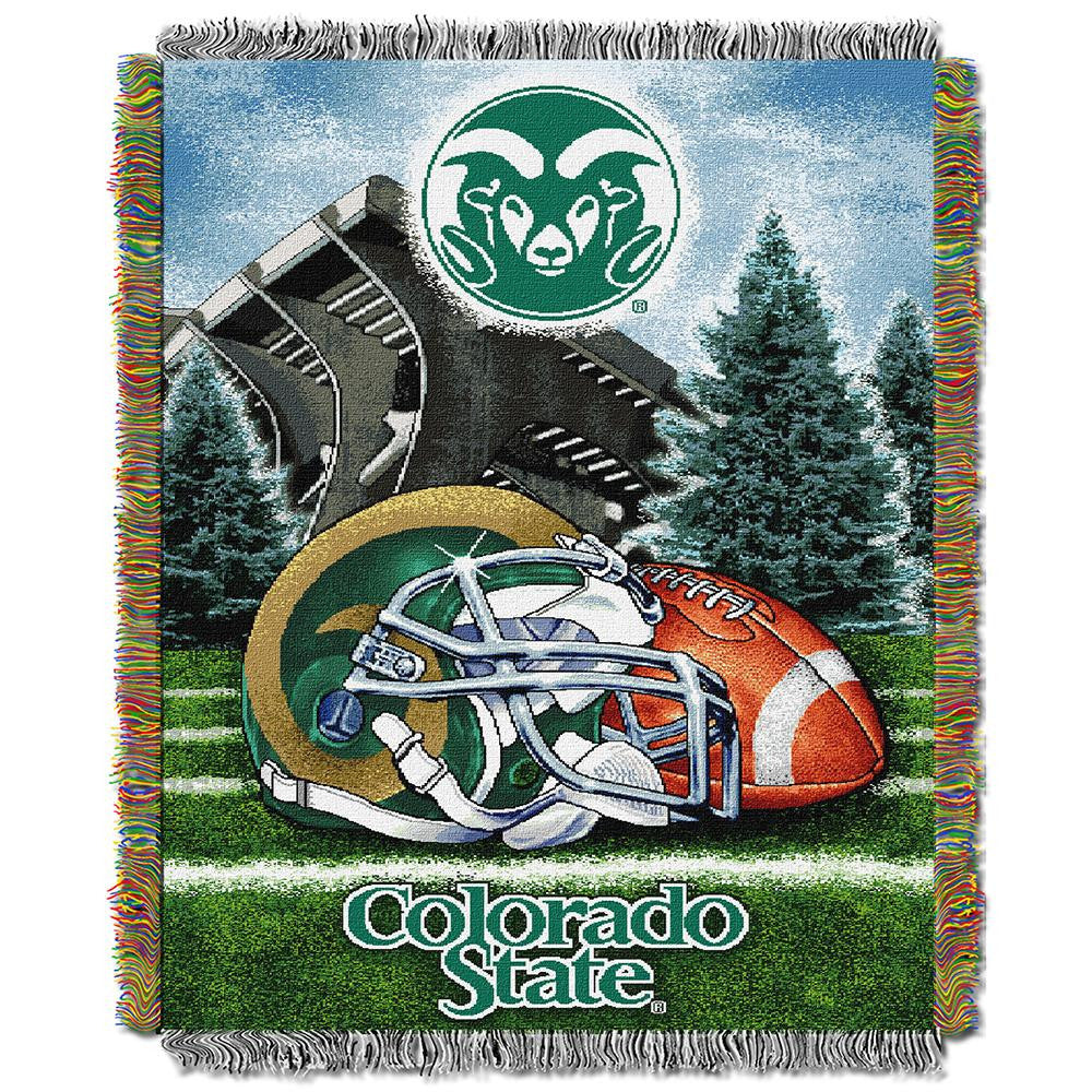 Colorado State Rams NCAA Woven Tapestry Throw (Home Field Advantage) (48x60) - 2