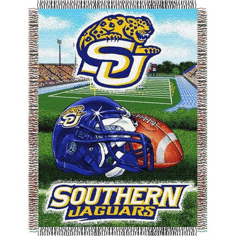 Southern University Jaguars NCAA Woven Tapestry Throw (Home Field Advantage) (48x60)