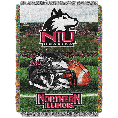 Northern Illinois Huskies NCAA Woven Tapestry Throw (Home Field Advantage) (48x60)