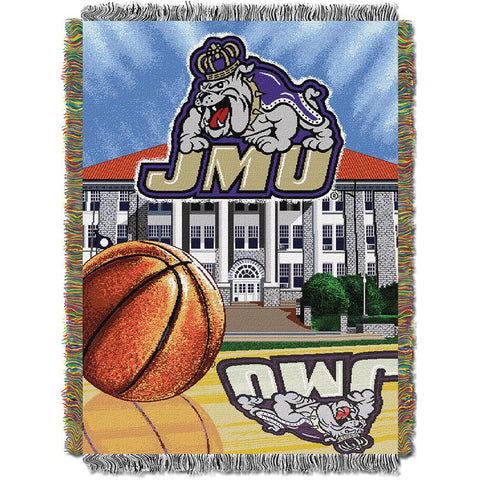 James Madison Dukes NCAA Woven Tapestry Throw (Home Field Advantage) (48x60)