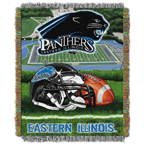 Eastern Illinois Panthers NCAA Woven Tapestry Throw (Home Field Advantage) (48x60)