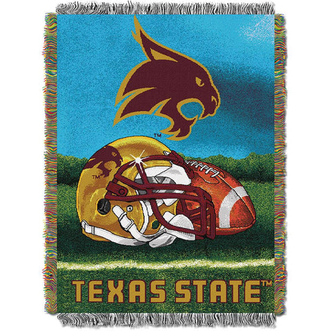 Texas State Bobcats NCAA Woven Tapestry Throw (Home Field Advantage) (48x60)