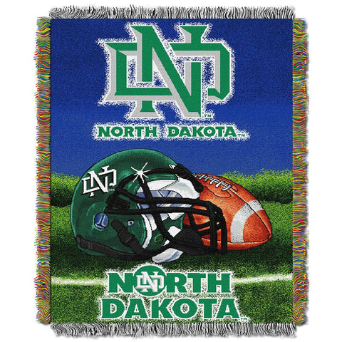 North Dakota Fighting Sioux NCAA Woven Tapestry Throw (Home Field Advantage) (48x60)