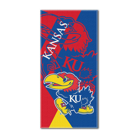 Kansas Jayhawks NCAA ?Puzzle? Over-sized Beach Towel (34in x 72in)