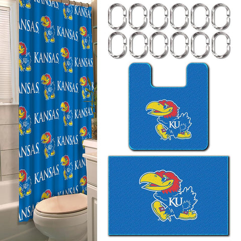 Kansas Jayhawks NCAA 15-Piece Bath Set