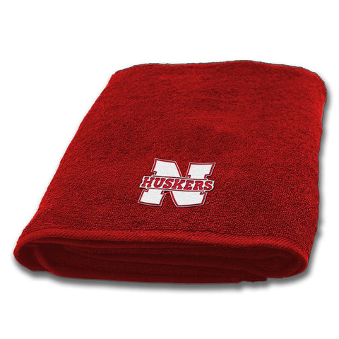 Nebraska Cornhuskers NCAA Applique Bath Towel