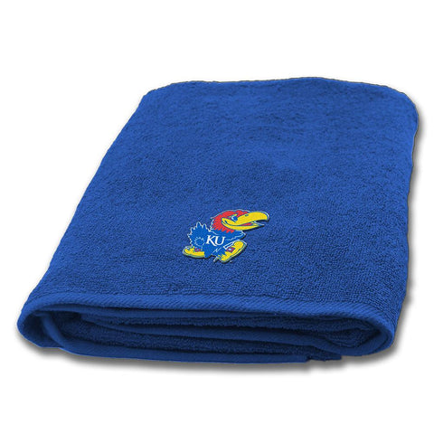 Kansas Jayhawks NCAA Applique Bath Towel