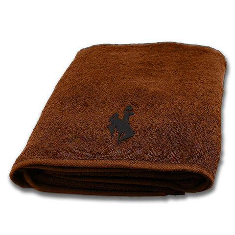 Wyoming Cowboys NCAA Applique Bath Towel