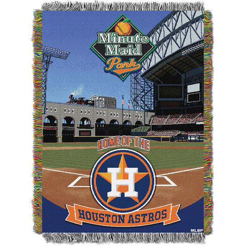 Houston Astros MLB (Minutemaid Park) Woven Tapestry Throw (48inx60in)
