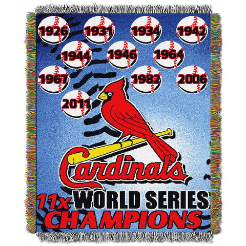 Saint Louis Cardinals MLB World Series Commemorative Woven Tapestry Throw (48x60)