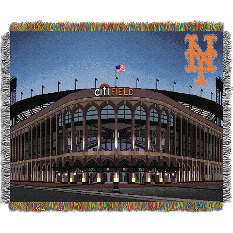 New York Mets MLB Citi Field Triple Woven Throw