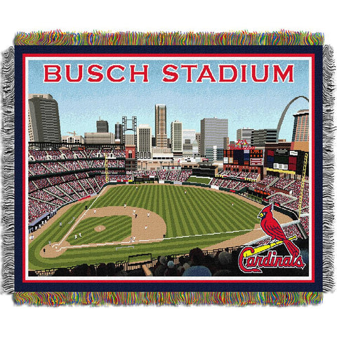 St. Louis Cardinals MLB Busch Stadium Triple Woven Throw