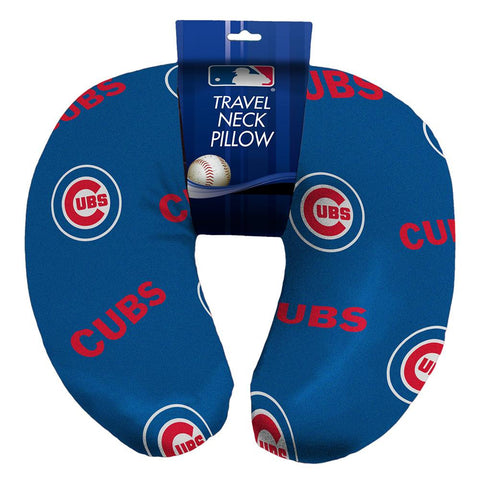 Chicago Cubs MLB Beadded Spandex Neck Pillow (12in x 13in x 5in)