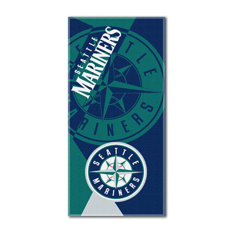 Seattle Mariners MLB ?Puzzle? Over-sized Beach Towel (34in x 72in)