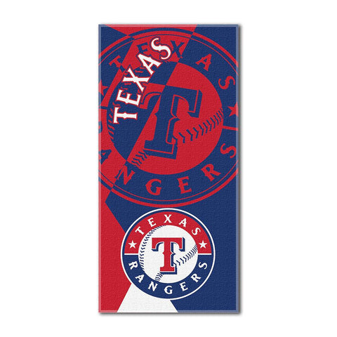 Texas Rangers MLB ?Puzzle? Over-sized Beach Towel (34in x 72in)